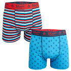 Mens Original Penguin Striped 2 Pack Boxer Shorts In Red 2 Different Designs L
