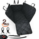 Car Rear Back Seat Cover Pet Dog Cat  Protector Waterproof  Hammock Mat Seatbelt