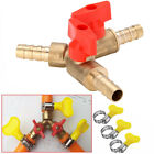 "5/16"" 8MM Brass Y 3-Way Shut Off Ball Valve Clamp Fitting Hose Barb Fuel Gas Kit"
