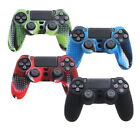 Camouflage Silicone Rubber Skin Grip Cover Case Play Station4 PS4 Controller  Fv