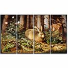 Design Art 'Hans Hoffmann - German - A Hare in the Forest' Lansdcape Canvas