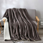 Soft Flannel Blanket Double Layer Bed Thicken Warm Winter Cashmere Plush Blanket image