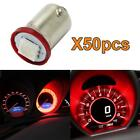50pcs Red Ba9s LED Bulb Miniature Bayonet Light Instrument Cluster Lamp 53 57 $9.92 USD on eBay