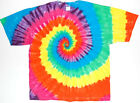 Adult TIE DYE Neon Rainbow T Shirt art 5X 6X hippie Dead and Co grateful dead
