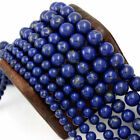 Lapis Lazuli Smooth Round Loose Beads 15.5'' Long Per Strand Size 6mm 8mm 10mm