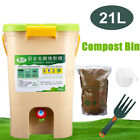21L Garden Bins Composter Kitchen Food Waste Eco Friendly Recycling Bucket New