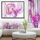 Designart 'Billowing Smoke Magenta' Abstract Framed Canvas art print