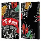FRIDA KAHLO TYPOGRAPHY LEATHER BOOK WALLET CASE COVER FOR SAMSUNG GALAXY TABLETS