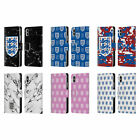 ENGLAND FOOTBALL TEAM 2018 CREST AND PATTERNS LEATHER BOOK CASE FOR APPLE iPHONE