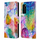OFFICIAL HAROULITA FEATHERS LEATHER BOOK WALLET CASE FOR HUAWEI PHONES