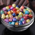 10/30pcs 8mm Coated Color Cube Square Faceted Glass Loose Spacer Beads Lot
