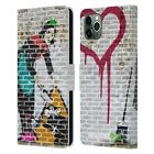 OFFICIAL BRANDALISED COLOURED ART LEATHER BOOK CASE FOR APPLE iPHONE PHONES