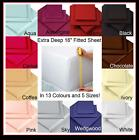 NEW EXTRA DEEP Single Double King Super FITTED Sheets