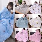 1.5*2M Winter Lazy Quilt With Sleeves Quilt Winter Warm Thickened Washed Quilt