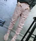 Ladies Loose Long Pants Faux Leather Warm Trousers Pockets 7 Colors Nightclub A7