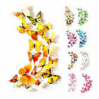 12pcs/package 3d Butterfly Wall Sticker Magnetic Glue Party Kids Room