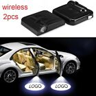 2pcs Wireless Car Led Door Welcome Projector Logo Ghost Shadow Light Uk New