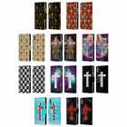 HEAD CASE DESIGNS CROSS PRINTS LEATHER BOOK WALLET CASE FOR APPLE iPHONE PHONES