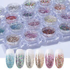 Nail Art Glitter Powder Platinum Sequins Pigment 3D Nail Art Decoration