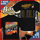 Bob Seger Concert Tour Dates 2018-2019 T-Shirt Black Cotton Full Size Men Tee image