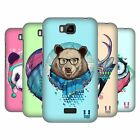 HEAD CASE DESIGNS FAUNA HIPSTERS HARD BACK CASE FOR HUAWEI PHONES 2