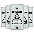 HEAD CASE DESIGNS HAZARD SYMBOLS 2 SOFT GEL CASE FOR MICROSOFT PHONES