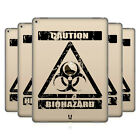 HEAD CASE DESIGNS HAZARD SYMBOLS 2 SOFT GEL CASE FOR APPLE SAMSUNG TABLETS