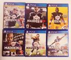 MADDEN NFL COLLECTION PS4 FOOTBALL GAMES FROM $6.99 GREAT CONDITION FREE S/H