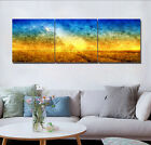 """16x16""""x3pc Abstract Colorful Home Wall Decor Modern Art Printed on Canvas"""