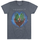 JOURNEY EVOLUTION ALBUM T-SHIRT HEATHER CHARCOAL MENS ROCK MUSIC TEE LICENSED image