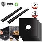 Gas Stove Burner Covers Range Protectors 4Pcs and 2 Silicone Stove Counter Gap  photo