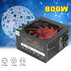 800W 12V ATX Computer Power Supply 12CM Fan 80 Gold 20 4PIN For Intel AMD