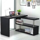 360° Rotating Foldable Convertible Office Desk Shelf Combo Writing Table