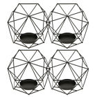 4Pcs 3D Geometric Wedding Candlestick Votive Candle Tealight Holder Party Supply