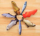 Kitty Catnip Scratch Stuffed Interactive Simulated Fishes Cat Play Pet Chew Toys