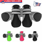 4pcs Dog Boots Feet Cover Paw Protectors Shoes Strap Anti-Slip Waterproof Sole