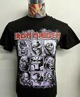 BRAND NEW IRON MAIDEN RED BAND NAME W / EDDIE NINE FACES EVOLUTION BLACK T SHIRT