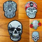 Skeleton Skull Head biker motorcycle Logo biker Sew Iron On Patch Embroidered $3.96 CAD on eBay