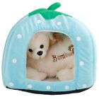 Dog Soft Bed Cushion Pet Kennel Tent House Warm Foldable Cat Puppy Cave Pad Mat