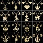 Fashion Gold Stainless Steel Pendant Necklace Earrings Lady Wedding Jewelry Set