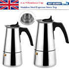 Stainless Steel Stovetop Espresso Coffee Maker Percolator Moka Pot 6 9 Cups UK