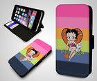 Betty Boop Pink Heart Cartoon Kiss Classy Retro Wallet Leather Phone Case $11.03 USD on eBay