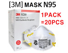 3M 8210 N95 Particulate Respirator Mask Nose Clip Dust Face Protect 20/Box Ship