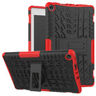 For Amazon Kindle Plastic Fire HD 8 2017/2018 Hybrid Rubber Stand Case CoverR9