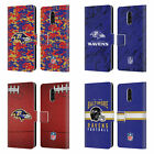OFFICIAL NFL 2018/19 BALTIMORE RAVENS LEATHER BOOK CASE FOR BLACKBERRY ONEPLUS