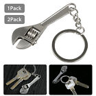 1x2x Adjustable Wrench Spanner Metal Keychain Keyring Camping Multi Tool Outdoor