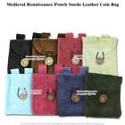 Внешний вид - Medieval Renaissance Pouch Genuine Suede Leather Coin Bag LARP Cosplay
