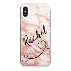 PERSONALISED INITIALS PHONE CASE PERSONALIZED MARBLE HARD COVER FOR APPLE IPHONE