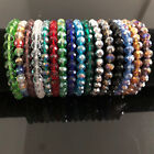 Nice Handmade Women's 8mm Colorful Faceted Crystal Beads Stretch Bracelet Bangle image