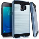 For Samsung Galaxy J2 Core Plus S260DL Metallic Case Cover + Tempered Glass